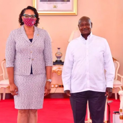 Museveni and US ambassador