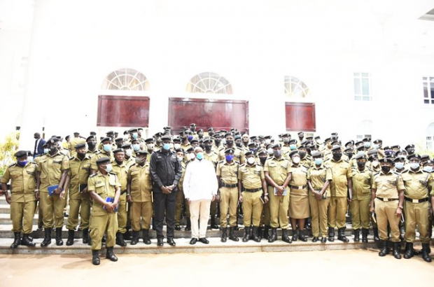 Museveni ,IGP and other senior Officers